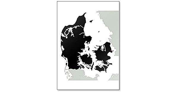 Amazon.com: Denmark Silhouette Map - Clic Fridge Magnet ... on