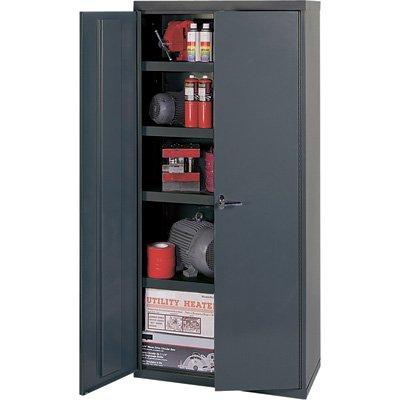 Edsal Welded Vault Cabinet - 36in.W x 24in.D x 84in.H, Model# VC1504G