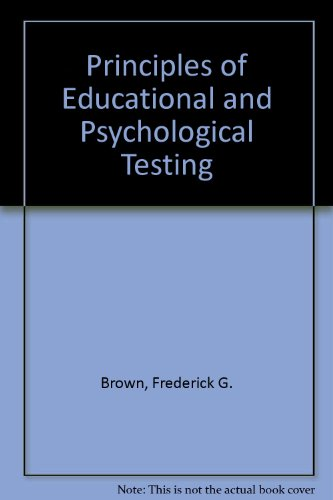 Principles of educational and psychological testing