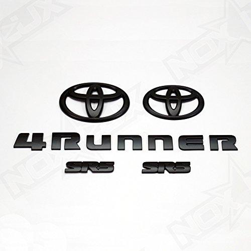 [해외]녹스 럭스 2014-2018 도요타 4Runner SR5 엠블렘 오버레이 배지 매트 블랙/Nox Lux 2014-2018 Toyota 4Runner SR5 Matte Black Out Emblem Overlay Badges