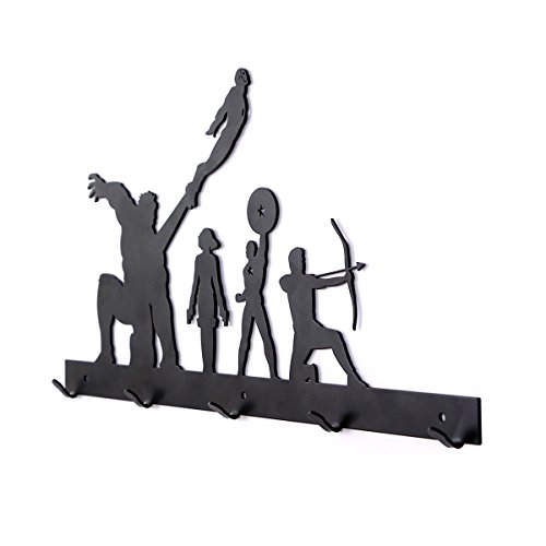 YOURNELO Creative Ironwork Marvel The Avengers Art Wall Mounted Decorative Coat Rack Hooks (Heroes -