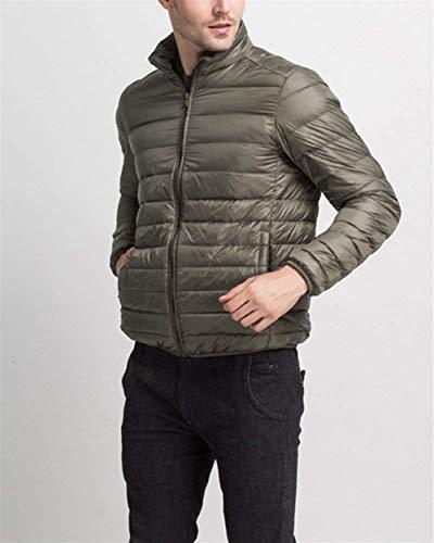 grün Jacket Sizes with Winter Coats Down Warm Quilted HX Clothing Outerwear Jacket Men's Jacket fashion Armee Zipper Men Long Sleeve Comfortable qtEEzxR