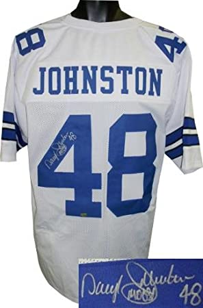 Amazon.com  Daryl Johnston Autographed Jersey - White Custom Stitched Pro  Style  48 Moose XL Hologram - Autographed NFL Jerseys  Sports Collectibles 7d618083e