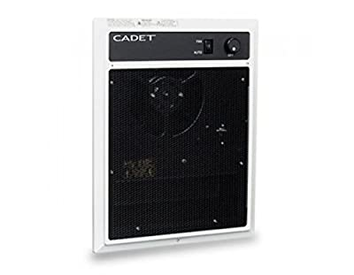 Cadet NLW452TW NLW Series Wall Heater, Heater Assembly and Grill with Thermostat, 4500W, 240V