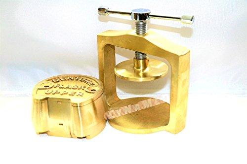 PREMIUM DENTAL LABORATORY SINGLE LAB PRESS COMPRESS W/TWO BRASS DENTURE FLASK ( CYNAMED ) by CYNAMED (Image #2)