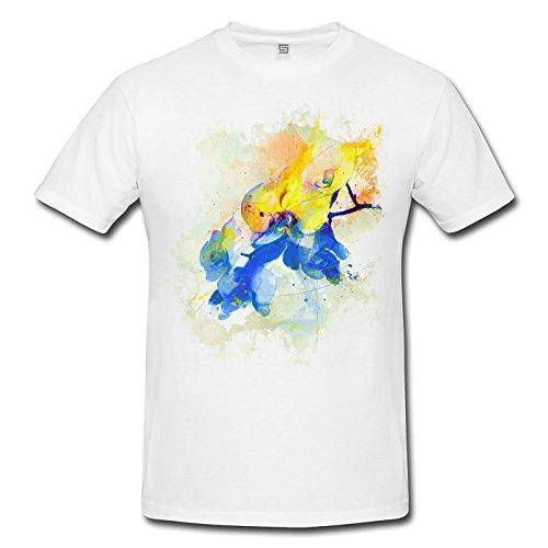 Blume VIII Herren T- Shirt , Stylisch aus Paul Sinus Aquarell Color