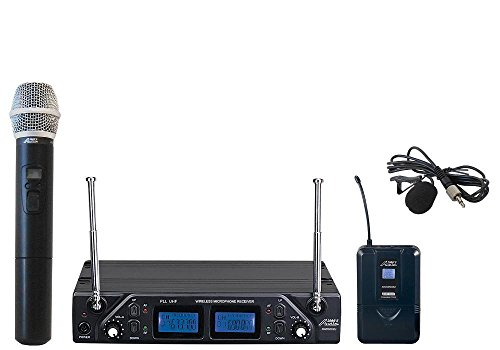 Audio2000'S AWM6502UL UHF PLL Frequency Agile Wireless Handheld/Lavaliere System by Audio 2000S