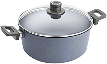 Woll W128DPIL Lite Plus Diamond Reinforced Nonstick Scratch Resistant Cast Aluminum Induction Ready Stockpot with Lid, 7.9 Quart