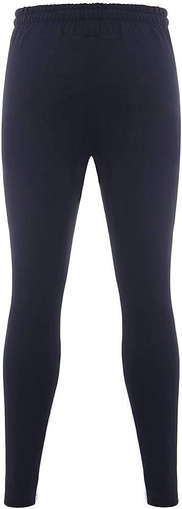 Zip Pocket Bein-Rei/ßverschluss Gestreifte Colorblock-Hose cinnamou Hosen Herren Jogginghosen