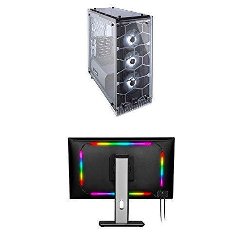 CORSAIR Crystal 570X RGB Mid-Tower Case, 3 RGB Fans, Tempered Glass – White (CC-9011110-WW)