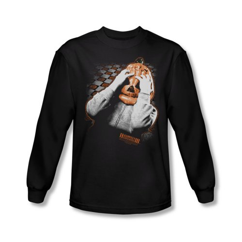 Halloween III Pumpkin Mask Mens Long Sleeve Shirt