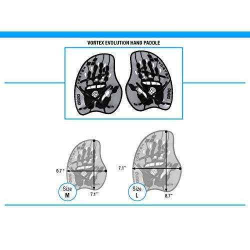 Amazon.com: Arena Vortex Evolution Hand Paddle, Plateado, M ...