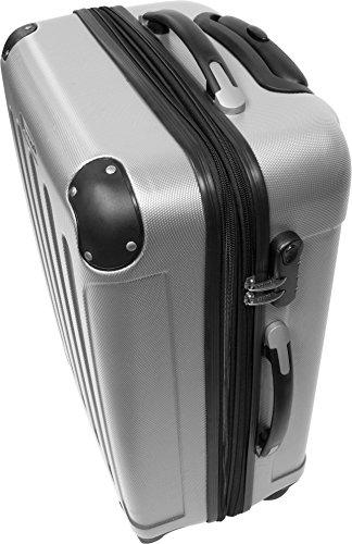 Farbauswahl!! 3 tlg. Reisekofferset Koffer Kofferset Trolley Trolleys Hartschale Silber jVMAilJ2R