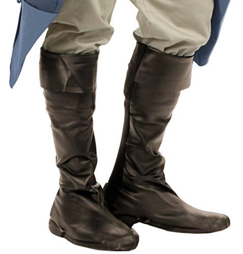 [Men's Brown Pirate Boot Tops] (Pirate Costumes Boot Covers)