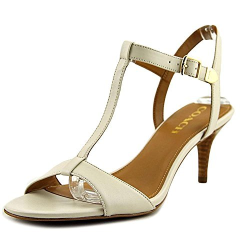 Coach Womens Melodie Open Toe Ankle Strap Classic Pumps, Chalk, Size 5.5 Gbjg