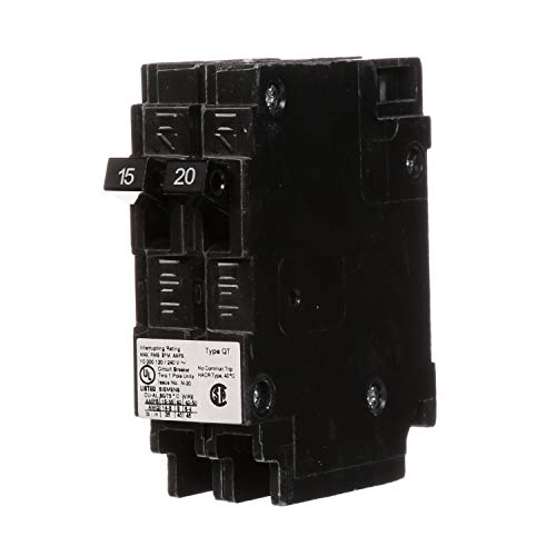 Siemens Q1520 One 15-Amp and One 20-Amp Single Pole 120V Non-Current Limiting Circuit Breaker (Siemens 15 20)