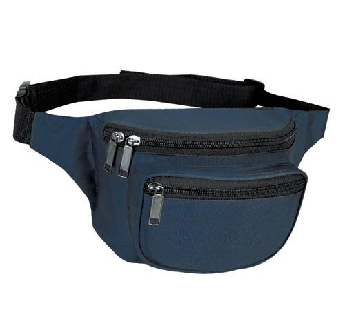 Yens® Fantasybag 3 Zipper Fanny Pack Navy Blue FN 03