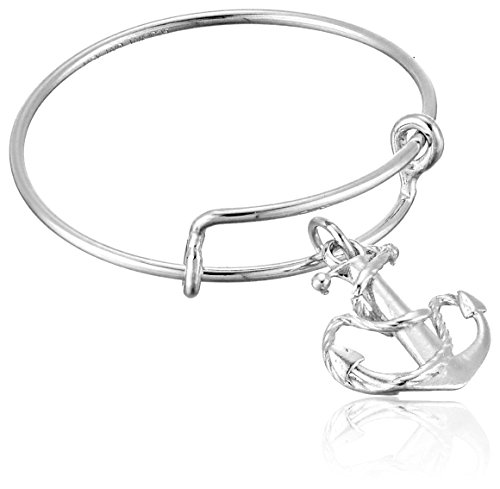 Alex and Ani Expandable Wire Ring, Anchor, 14k Stackable Ring, Size 7-9