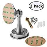 Stainless Steel Magnetic Door Stop Door Catch Metal Door Holder Doorstop,2 Pack