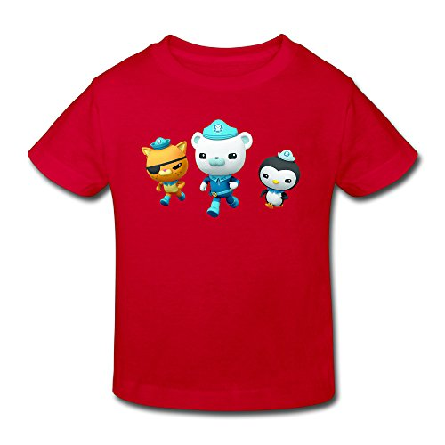 Toddler's 100% Cotton The Octonauts Cute T-Shirt Red US Size 2 Toddler -