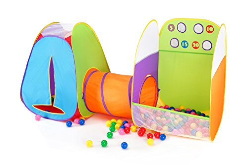 Alvantor Kids Indoor Toddler Toys Children Tent Pop up Play Tunnel Ball Pit Girls Boys Outdoor House 8021 Fun Toss It Game Zone 3-in-1, 3 in 1 by Alvantor