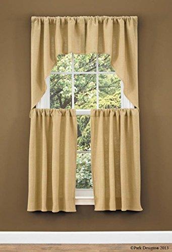 Burlap Swag Curtain Pair 72W x 36L