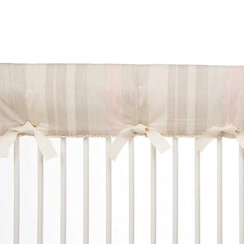 Glenna Jean Florence Long Crib Rail Protector, Grey/Taupe/Pink/Cream - Glenna Jean Baby Crib