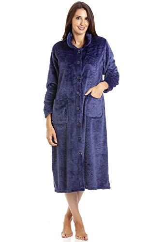 Camille Womens Various Button Housecoats