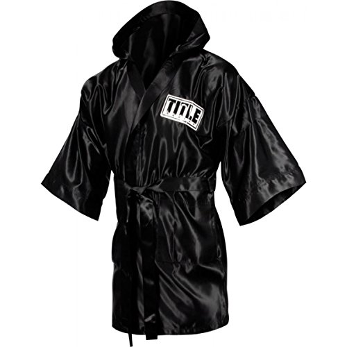 Stock Satin Robe - TITLE Boxing Full Length Stock Satin Robe, Black, Medium