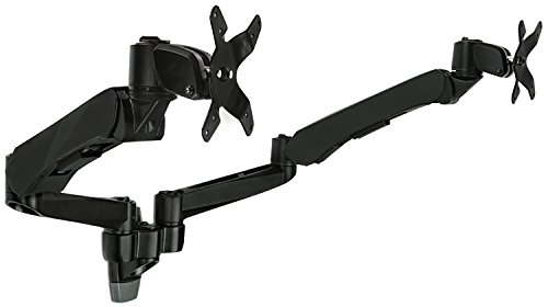 Mount-It! Dual Monitor Wall Mount with Articulating Gas-Spri