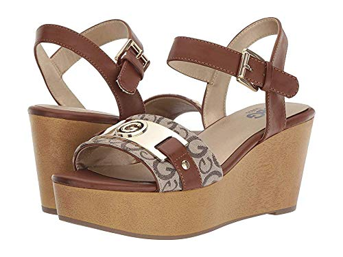 G by GUESS Women's Danna Taupe/Burnished Calf Rio Maple 7 M US