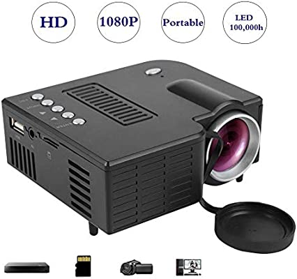 Tangxi Mini proyector LED, Mini proyector, Full HD 1080P, Pantalla ...