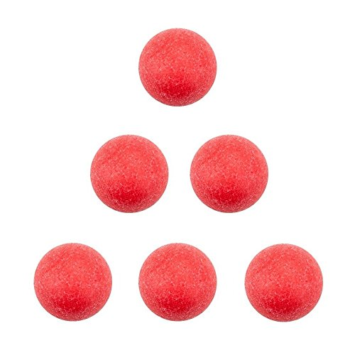 Easygame 6 Official Tornado Foosballs Balls for Foosball, Table Soccer Replacement Balls Red 36mm