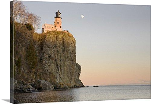 Susan Dykstra Premium Thick-Wrap Canvas Wall Art Print entitled Split Rock Lighthouse On The North Shores Of Lake Superior, Minnesota Lake Superior Lighthouses