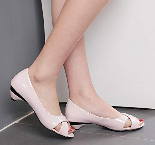 Couleur Sandales Bout Classique Unie Peep Aisun Toe Rose Ouvert Femme SBf6Z6
