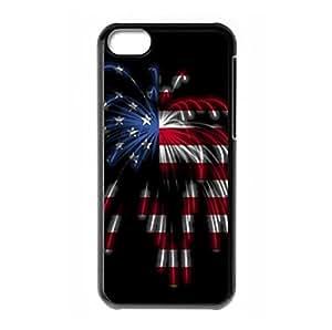 American Flag Firework theme for iPhone 5C hard back case