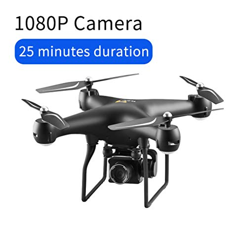 2019 FPV Drone with 1080p HD Camera Live Video and GPS Return Home, RC Quadcopter for Adults Beginners with Brushless Motor, Follow Me, 5G WiFi Transmission, Fit with GoPro Camera (Black)
