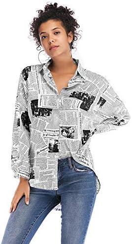 WANQL Blusas de Mujer Camisa de Manga Larga con Estampado de Blusa y Camisa Estampada con Letras: Amazon.es: Deportes y aire libre