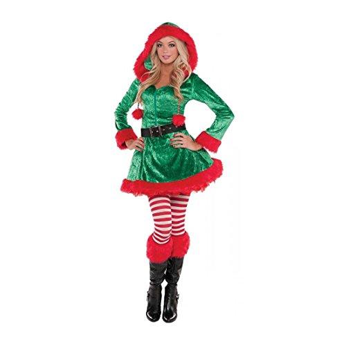 Elf Costume Adult Christmas Fancy Dress - Multi-Color (Plus Size)