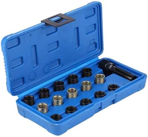 ZXY-NAN Spark Plug Thread Repair Kit 16pcs Professional 14mm Reamer Cylinder Thread Repair Tool Kit With Case 14mm X 1.25