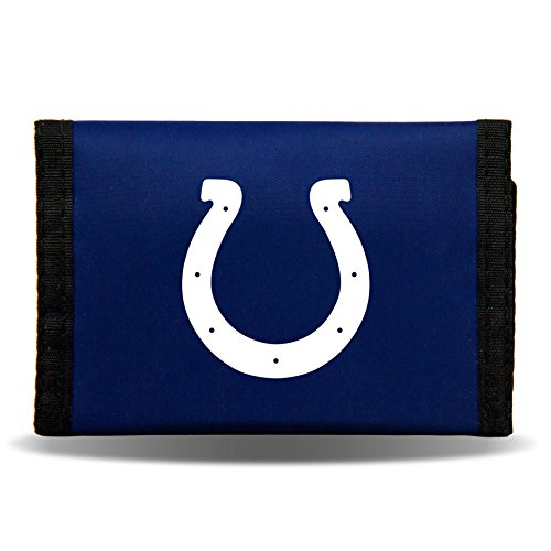 Indianapolis Colts Tri-Fold Nylon Wallet Size One Size