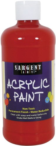 Sargent Art 24-2425 16-Ounce Acrylic Paint, Naphthol Red