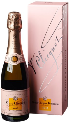 Veuve Clicquot Rosé trocken Champagner mit Geschenkverpackung (1 x 0.375 l)