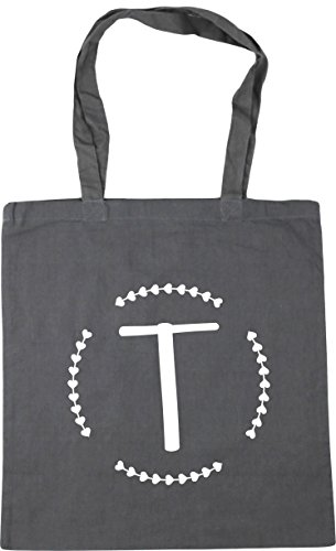 10 Initial Tote Grey Bag x38cm Gym T Graphite Shopping litres HippoWarehouse Beach 42cm pw56zZaxq