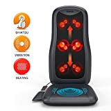 TENKER Massage Cushion, Shiatsu Full Back Massage Chair Vibration...