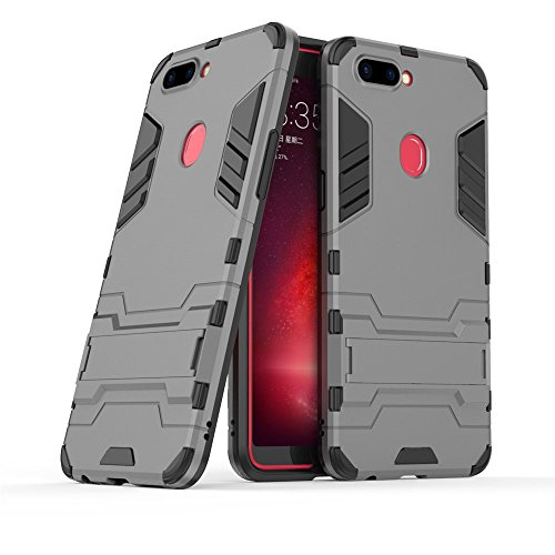 Happon Oppo R11s Case, Cover Backcover Case for Oppo R11s, Backcover Backcover Bumper Resistance to Shock for Oppo R11s (Grey)