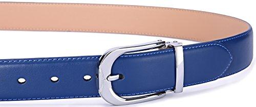 Men's Belt,Bulliant Leather Adjustable Belt for Men Dress Casual 1 3/8,Trim to Fit