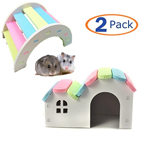 Wooden Hamster House Rat Mouse Exercise Natural Funny Hamster Nest Toy