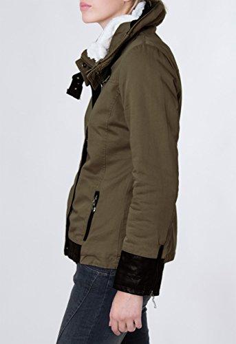 Fourré D'hiver Jck004 Veste Enroulable Olive Capuche Parka Avec Montant Vert Femme Et Caspar Pour Coloris Plusieurs Col A86Bqxxw5