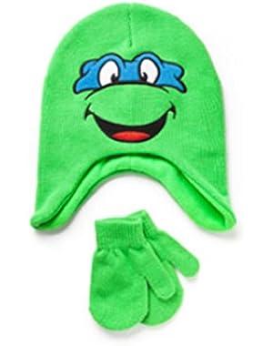 Tteenage Mutant Ninja Turtles Baby Toddler Boy Hat and Mitten Gift Set